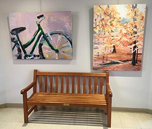 Two artworks by Raleigh Greenway artist and CUCC member Autumn Cobeland