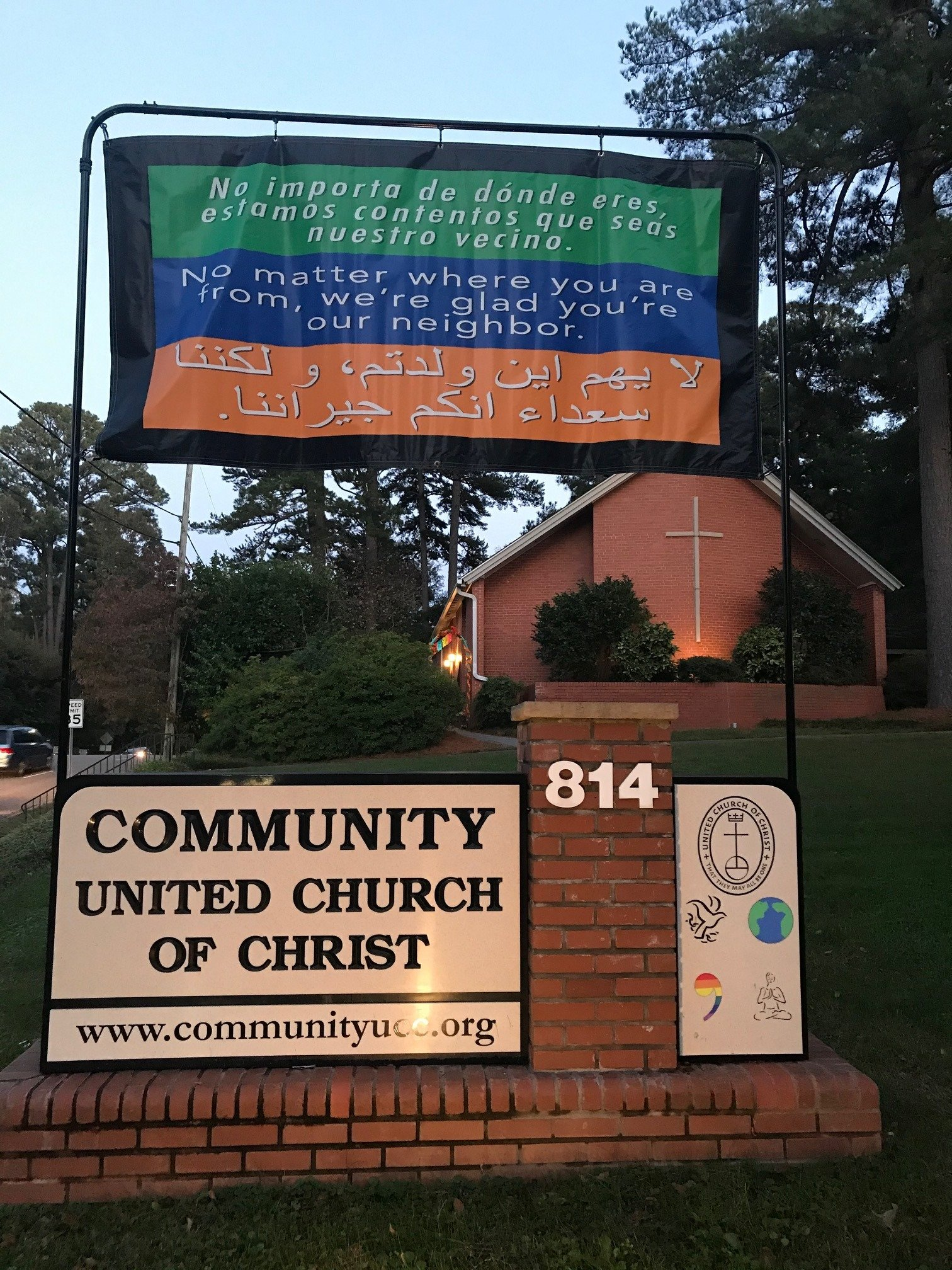 Community United Church of Christ Sign and Building