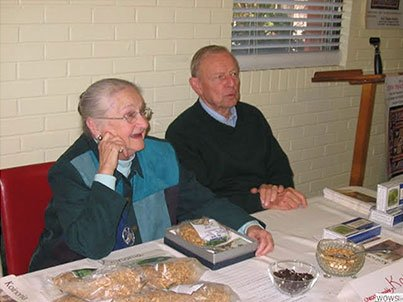 Carolyn and Cy King greet donors at the Marketplace of Meaningful Gifts