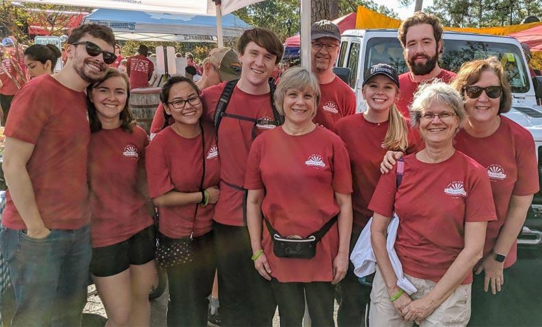CUCC's 10 member team at the Walk for Hope