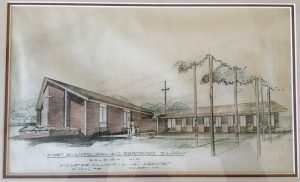 Architectural rendering of the original Dixie Trail building