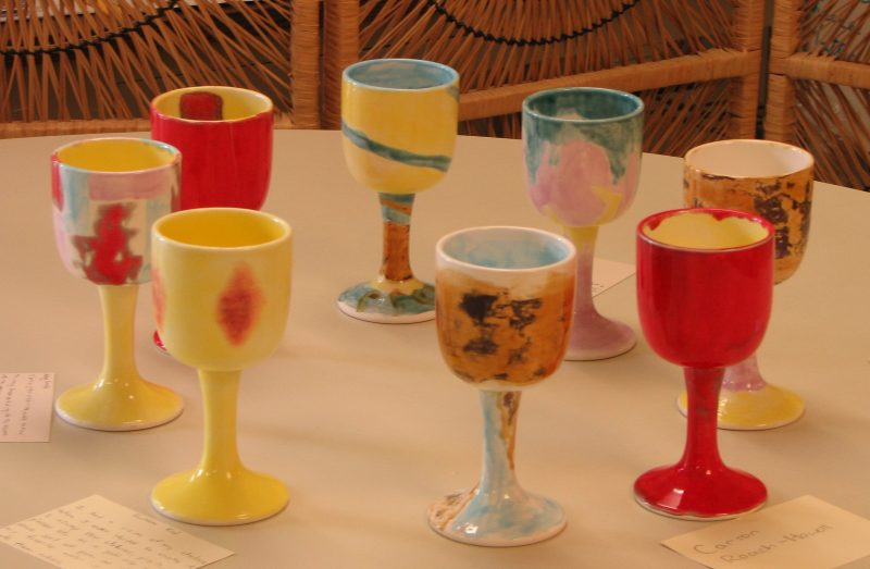 hand-painted chalices created by CUCC's youth