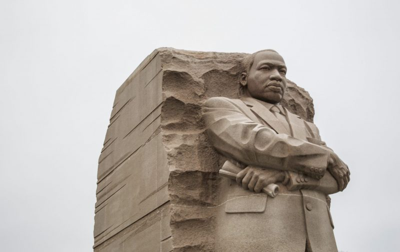 sculpture of Dr. King in Washington, DC